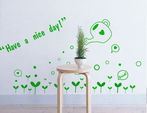 Custom PopDecals - Have a Nice Day - Beautiful Tree Wall Decals for Kids Rooms Teen Girls Boys Wallpaper Murals Sticker Wall Stickers Nursery Decor Nursery Decals - PopDecors,Home, PopDecals, PopDecors