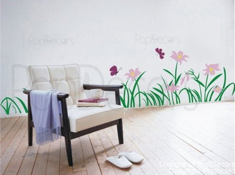 Flowers and Grass Wall Decals - PopDecors,Home, Pop Decors, PopDecors