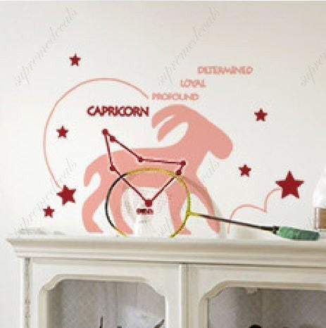 Custom PopDecals - Capricorn (constellation) - Beautiful Tree Wall Decals for Kids Rooms Teen Girls Boys Wallpaper Murals Sticker Wall Stickers Nursery Decor Nursery Decals - PopDecors,Home Improvement, PopDecals, PopDecors