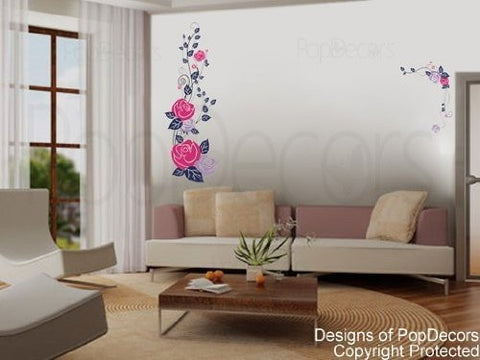 Romantic Rose  Wall Decals - PopDecors,Baby Product, Pop Decors, PopDecors