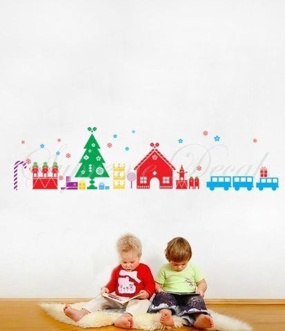 Custom PopDecals Christmas Decals Christmas toys Beautiful Tree