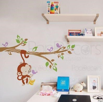 "Elvish Monkey(47""W) - Wall  Decal - PopDecors,Baby Product, Pop Decors, PopDecors"