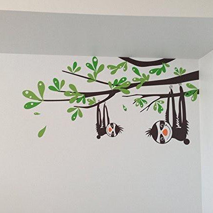 Sloths and Branches- Wall Decal - PopDecors,Baby Product, Pop Decors, PopDecors
