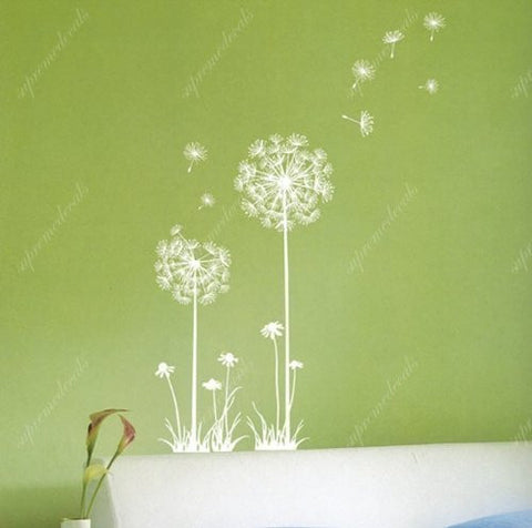 Custom Color PopDecals - Dandelion - 22.8 inch high - Removable vinyl art wall decals stickers murals home decor - PopDecors,Baby Product, PopDecals, PopDecors