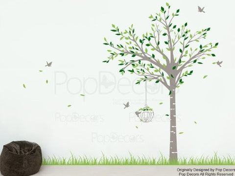 Spring Tree and Grass-Wall Decal