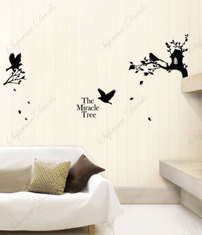 Custom PopDecals - The miracle tree - Beautiful Tree Wall Decals for Kids Rooms Teen Girls Boys Wallpaper Murals Sticker Wall Stickers Nursery Decor Nursery Decals - PopDecors,Home, PopDecals, PopDecors