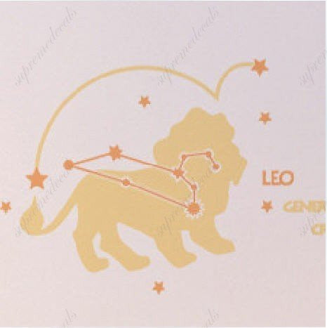 Custom PopDecals - Leo (constellation) - Beautiful Tree Wall Decals for Kids Rooms Teen Girls Boys Wallpaper Murals Sticker Wall Stickers Nursery Decor Nursery Decals