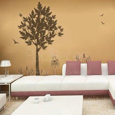 Tree and Zebra-Wall Decal - PopDecors,Baby Product, Pop Decors, PopDecors