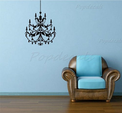 Custom PopDecals - Chandelier B - Beautiful Tree Wall Decals for Kids Rooms Teen Girls Boys Wallpaper Murals Sticker Wall Stickers Nursery Decor Nursery Decals - PopDecors,Home, PopDecals, PopDecors