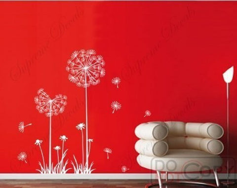 PopDecals - Dandelion - 39 in High - nursery wall decals tree vinyl wall art wall decor sticker wall vinyl stickers pop baby gift idea - PopDecors,Home, PopDecals, PopDecors