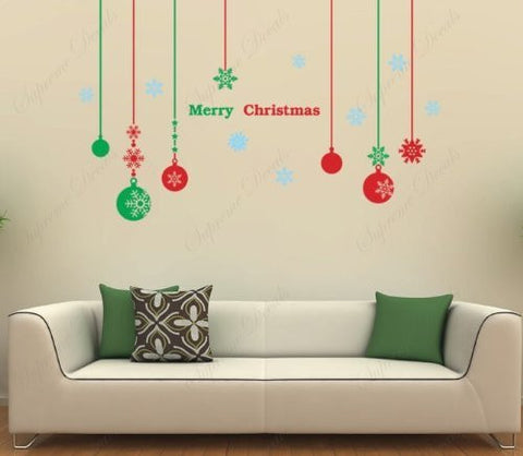 Christmas Decals - Christmas balls - Beautiful Tree Wall Decals for Kids Rooms Teen Girls Boys Wallpaper Murals Sticker Wall Stickers Nursery Decor Nursery Decals PDA-0063-FBA - PopDecors,Baby Product, PopDecals, PopDecors