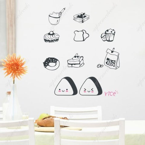 Custom PopDecals - Delicious food - Beautiful Tree Wall Decals for Kids Rooms Teen Girls Boys Wallpaper Murals Sticker Wall Stickers Nursery Decor Nursery Decals - PopDecors,Home, PopDecals, PopDecors