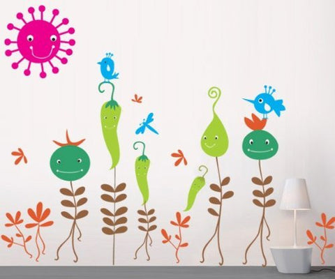 Vegetable Flowers wall decals - PopDecors,Baby Product, Pop Decors, PopDecors