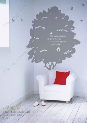 Custom PopDecals - A beautiful memory about a tree - Beautiful Tree Wall Decals for Kids Rooms Teen Girls Boys Wallpaper Murals Sticker Wall Stickers Nursery Decor Nursery Decals