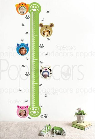 PopDecors - Cute Growth Chart and Photo decal - Custom Beautiful Tree Wall Decals for Kids Rooms Teen Girls Boys Wallpaper Murals Sticker Wall Stickers Nursery Decor Nursery Decals