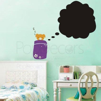 PopDecors - Chalkboard Decal Piggy's Sweet Dream - Custom Beautiful Tree Wall Decals for Kids Rooms Teen Girls Boys Wallpaper Murals Sticker Wall Stickers Nursery Decor Nursery Decals