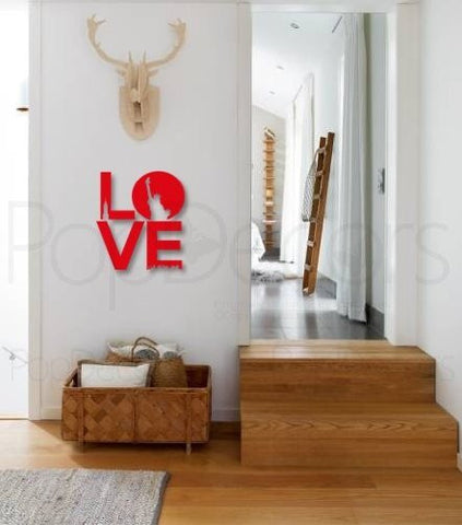Pop Decors Laser Cut and Engraving for Outdoor use - 3D Plexiglass Acrylic Wall Decors- Love Words - Popdecors Office Wall Art Home Interior Decors Idea