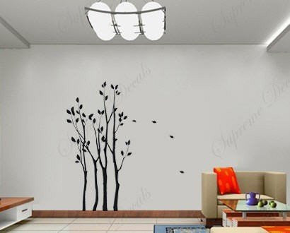 Custom PopDecals - 86 by 46 in Small forest - Beautiful Tree Wall Decals for Kids Rooms Teen Girls Boys Wallpaper Murals Sticker Wall Stickers Nursery Decor Nursery Decals - PopDecors,Home, PopDecals, PopDecors