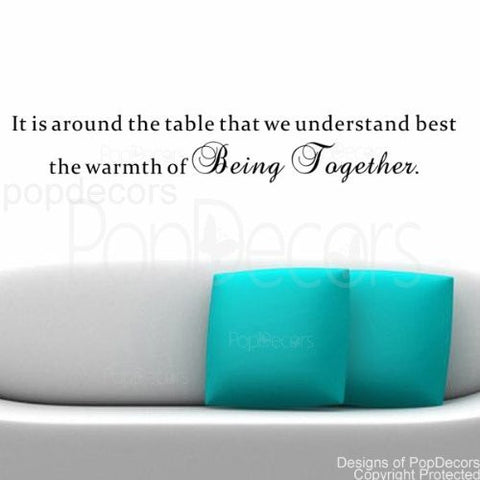It is Around the Table-Quote Decal - PopDecors,Baby Product, Pop Decors, PopDecors
