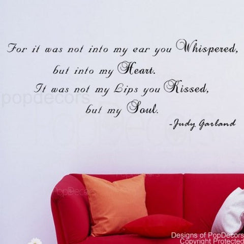 It was not my Lips you Kissed-Quote Decal - PopDecors,Baby Product, Pop Decors, PopDecors
