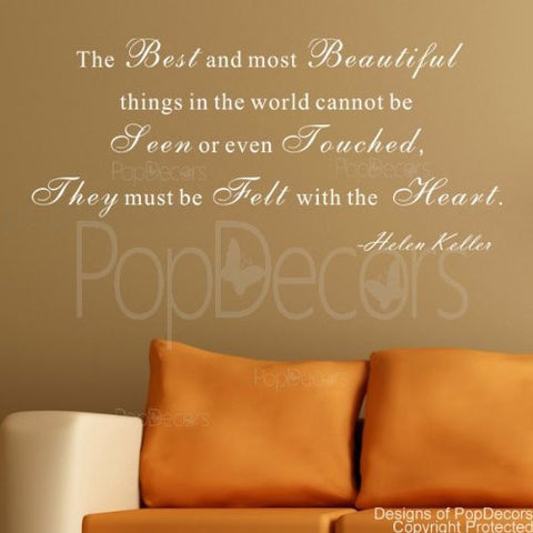 The Best and Most Beautiful Things-Quote Decal
