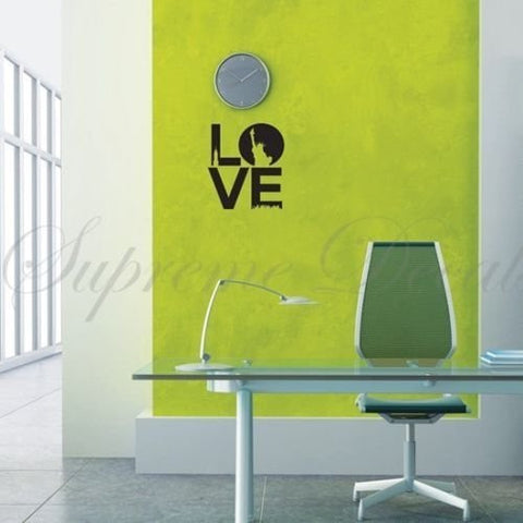 Custom Color PopDecals - Love, NY Theme removable vinyl art wall decals - PopDecors,Baby Product, PopDecals, PopDecors