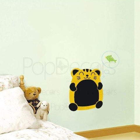 Chalkboard Decal Fortune Cat - Wall Decals - PopDecors,Baby Product, Pop Decors, PopDecors