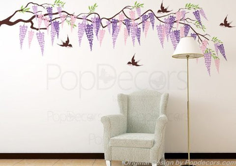 Beautiful Wisteria Wall Decal - PopDecors,Baby Product, Pop Decors, PopDecors