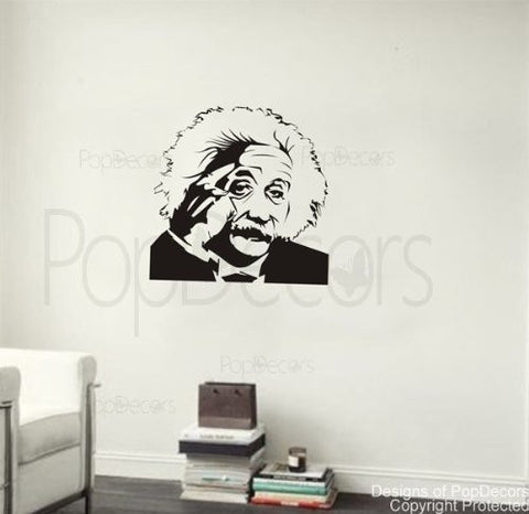 PopDecors - Albert Einstein - 34 inch H - Custom Beautiful Tree Wall Decals for Kids Rooms Teen Girls Boys Wallpaper Murals Sticker Wall Stickers Nursery Decor Nursery Decals - PopDecors,Baby Product, Pop Decors, PopDecors