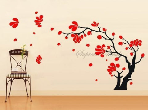 Custom PopDecals - Magnolia Blossom - 42 in tall - Beautiful Tree Wall Decals for Kids Rooms Teen Girls Boys Wallpaper Murals Sticker Wall Stickers Nursery Decor Nursery Decals - PopDecors,Baby Product, PopDecals, PopDecors