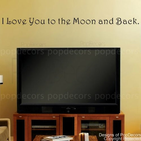 I Love you to the Moon and Back-Quote Decal - PopDecors,Baby Product, Pop Decors, PopDecors