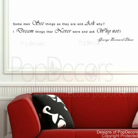Some Men See Things as They are and Ask why-Quote Decal
