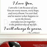 I will Always be Yours-quote Decal