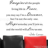 Imagine All the People Living Life in Peace-Quote Decal - PopDecors,Baby Product, Pop Decors, PopDecors