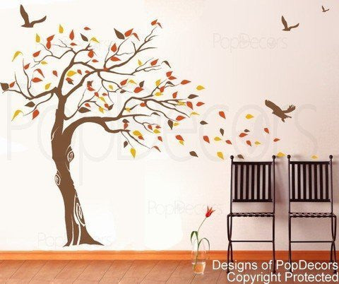 Beautiful Tree and Birds-Wall Decal