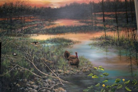 Erma Jean Mural 005  Park Sunset   72 Inch W   Custom Size Wall Mural