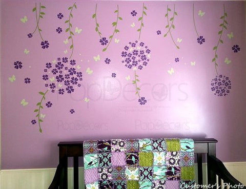 Flower Vines and Butterflies - PopDecors,Baby Product, Pop Decors, PopDecors