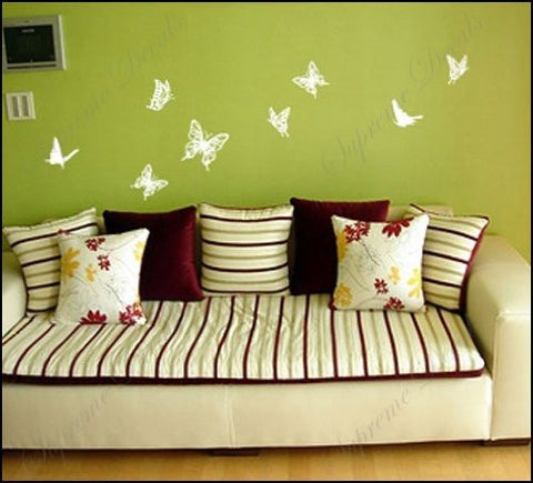 Custom Color PopDecals - Colorful butterflies - nursery wall decals tr