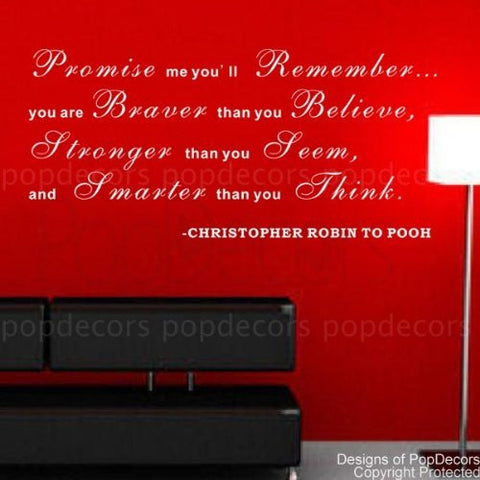 Promise me you'll Remember-Quote Decal