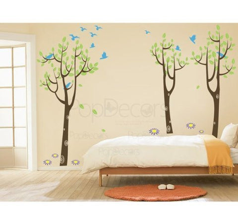 Forest and Birds-Wall Decall - PopDecors,Baby Product, Pop Decors, PopDecors