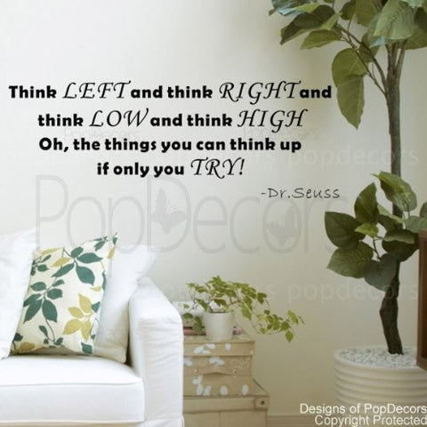 The Things you can Think up if Only you TRY-Quote Decal - PopDecors,Baby Product, Pop Decors, PopDecors