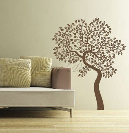 Custom PopDecals - Memory of Tree (71 in) - Beautiful Tree Wall Decals for Kids Rooms Teen Girls Boys Wallpaper Murals Sticker Wall Stickers Nursery Decor Nursery Decals