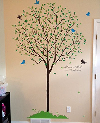 Tree garden with flying birds - Beautiful Tree Wall Decals for Kids Rooms Teen Girls Boys Wallpaper Murals Sticker Wall Stickers Nursery Decor Nursery Decals - PopDecors,Baby Product, PopDecals, PopDecors