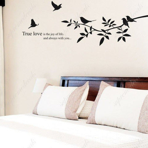 Custom Color PopDecals - Love birds - removable vinyl art wall decals home decor - PopDecors,Baby Product, PopDecals, PopDecors