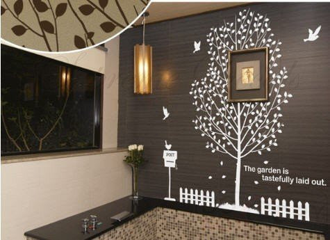 Custom PopDecals - My Garden - 71 in - Beautiful Tree Wall Decals for Kids Rooms Teen Girls Boys Wallpaper Murals Sticker Wall Stickers Nursery Decor Nursery Decals - PopDecors,Home, PopDecals, PopDecors