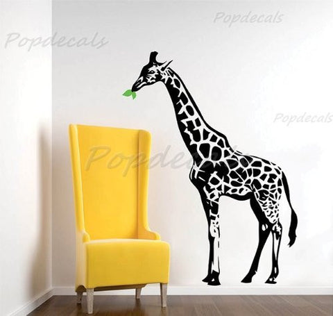 Custom Color PopDecals - Lovely giraffe removable vinyl art wall decals home murals - PopDecors,Baby Product, PopDecals, PopDecors