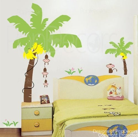 Monkeys love bananas-Wall Decal - PopDecors,Home, Pop Decors, PopDecors