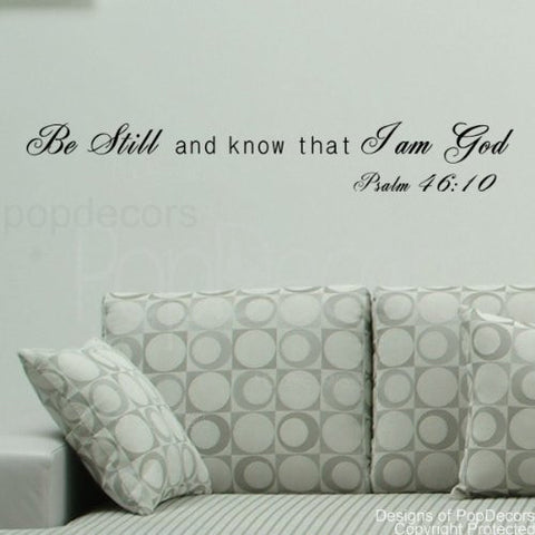 I am God-Psalm 46:10-Quote Decal - PopDecors,Baby Product, Pop Decors, PopDecors