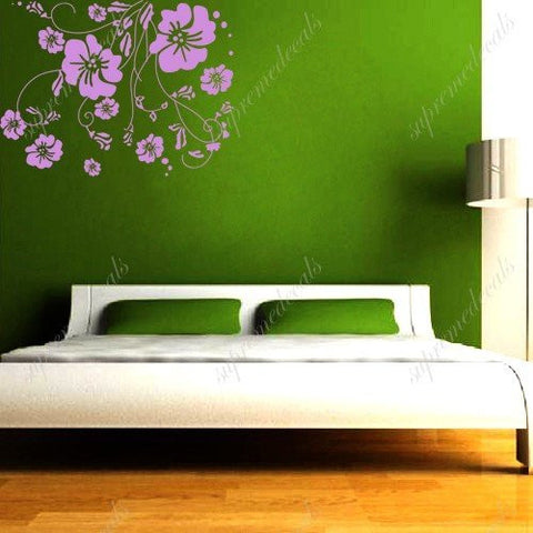 Custom PopDecals - Beautiful flower vines - Beautiful Tree Wall Decals for Kids Rooms Teen Girls Boys Wallpaper Murals Sticker Wall Stickers Nursery Decor Nursery Decals - PopDecors,Home, PopDecals, PopDecors