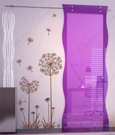 Custom PopDecals - Lovely Dandelion - 39 in High - Beautiful Tree Wall Decals for Kids Rooms Teen Girls Boys Wallpaper Murals Sticker Wall Stickers Nursery Decor Nursery Decals